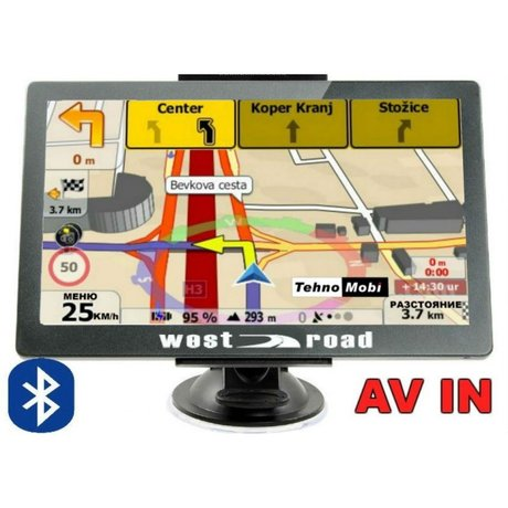 GPS НАВИГАЦИЯ WEST ROAD WR-X256S BT AV IN FM EU, BLUETOOTH, 800MHZ, 256MB RAM