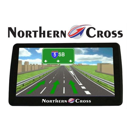 GPS НАВИГАЦИЯ NORTHERN CROSS NC-712S EU LIMITED EDITION, 7 ИНЧА, 5 ПРОГРАМИ, 800MHZ, 256MB RAM