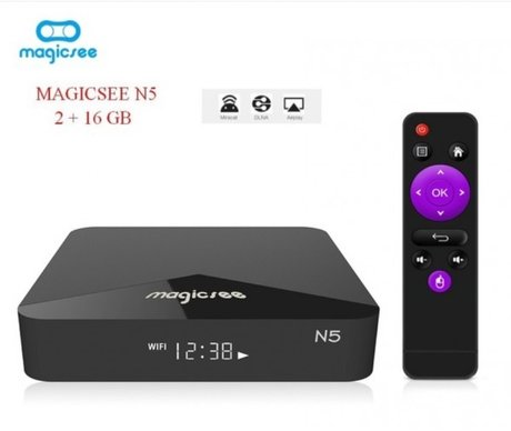 Android мултимедиен Player MAGICSEE N5, 4K, Android 7.1.2, Amlogic S905X, DDR3 2GB, 16GB, Wifi