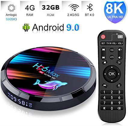 Android TV BOX H96 MAX X3 8K, ANDROID 9.0, 4GB RAM, 32GB