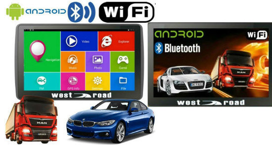 WEST ROAD WR-A7512 - 7 ИНЧА GPS НАВИГАЦИЯ С ANDROID И WI-FI