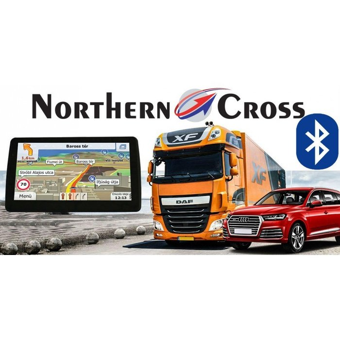 GPS НАВИГАЦИЯ NORTHERN CROSS NC-712S BT AV IN EU FM LIMITED EDITION