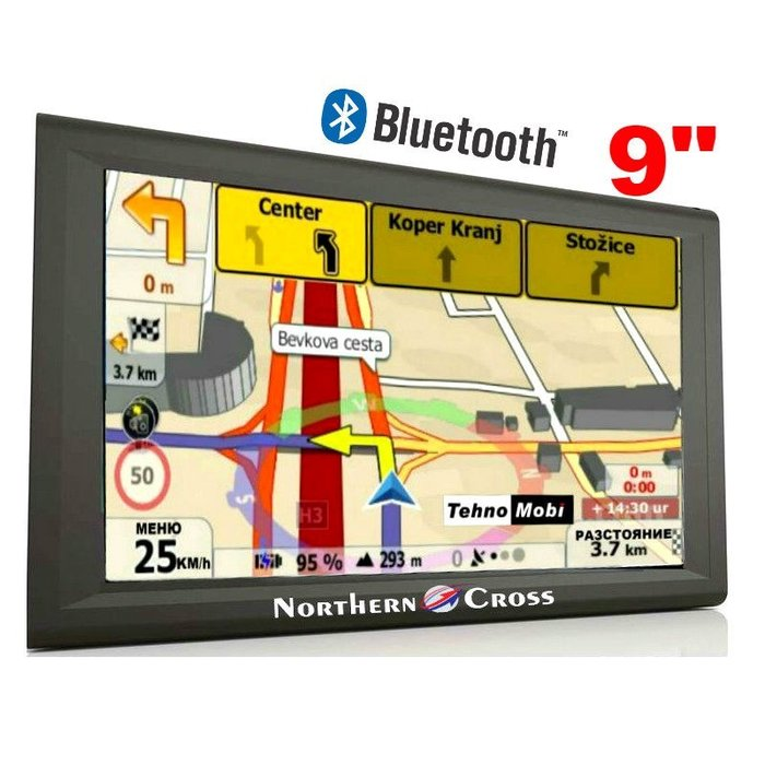 GPS НАВИГАЦИЯ NORTHERN CROSS NC-Q9, 9 ИНЧА, 256MB RAM, 800MHZ, BLUETOOTH